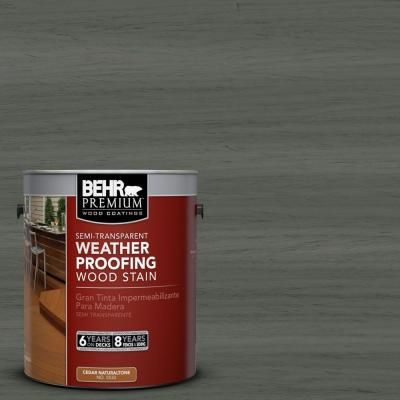 Behr Semi Transparent Pewter Wood Stain