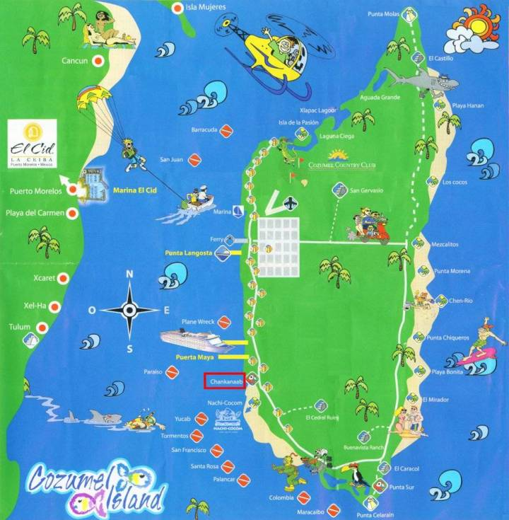 Printable Cozumel Map