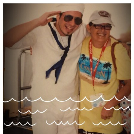 Carnival Fantasy Cruise Me and Crew Member Alvin - Copy