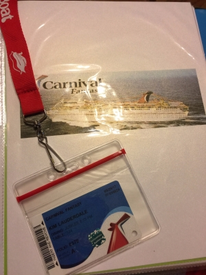 Carnival Fantasy-Ship Card and Water Proof Lanyard