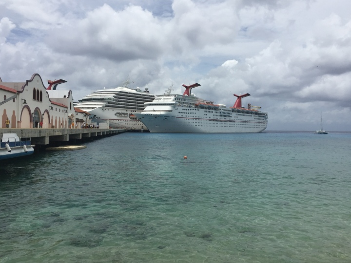Carnival Fantasy-Ship in Port at Cozumel Mexico