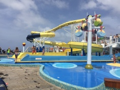 One of the Waterslides Aboard The Carnival Fantasy