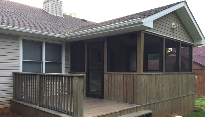 My Daughter's House New Screened In Deck Behr Semi Transparent Pewter Stain Color