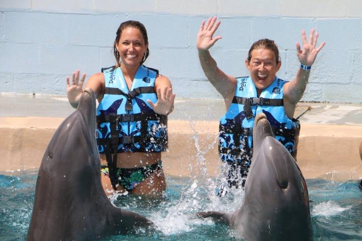 PCB 2017-Gulf World Dolphin VIP-Aaron, me, Jet & Striker