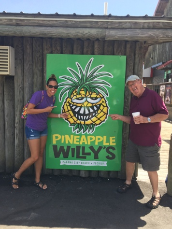 Aaron and Dad at Pineapple Willy's