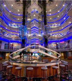 Fantasy Atrium view with the many decks above