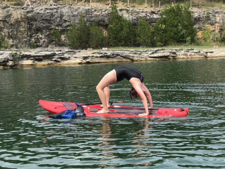 Faith Backbend on Paddle Board