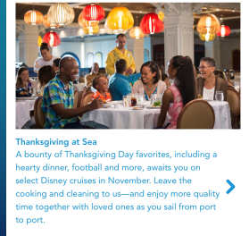 Disney's Thanksgiving Cruise
