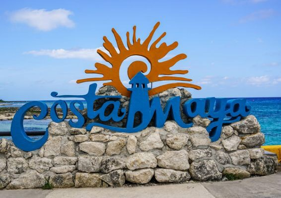 Costa Maya Welcome Sign
