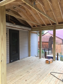 Screened-In Porch Taking Shape